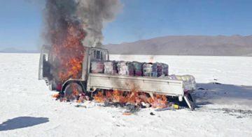 El Ejército frustra ingreso de convoy de contrabando