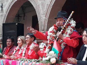 Rafael Quispe es  proclamado candidato a la Gobernación de La Paz