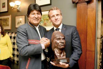 Evo y Macron contra el cambio climático