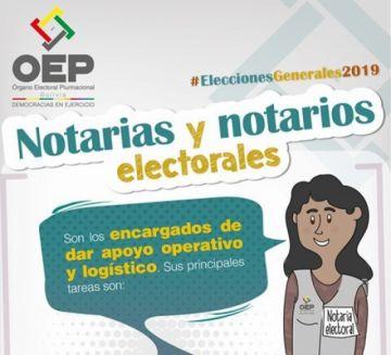 Más de 8.000 notarios darán fe de los actos electorales en las elecciones generales 2019