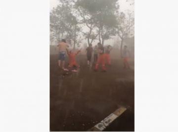 Lluvia en Urubichá apaga focos de calor y alegra a bomberos