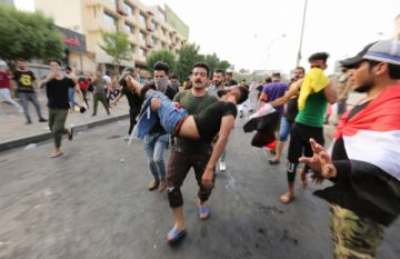 Van 27 muertos  y 1.500 heridos por protestas en Irak