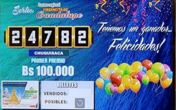 Los Bs 100 mil de la lotería aún no tienen propietario
