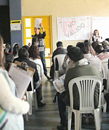 Casi un 70% de jurados son capacitados en Sucre