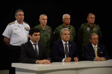 Moreno traslada sede Gobierno a Guayaquil y culpa a Correa de golpe de Estado