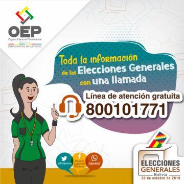 TSE habilita la línea gratuita 800-101771 para atender las consultas de la ciudadanía sobre las elecciones generales