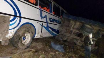 Embarrancamiento deja dos muertos y 15 heridos en vía Cochabamba-Santa Cruz