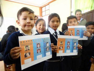 Niños participan en procesos electorales