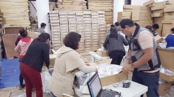 Alistan maletas electorales para 1.828 mesas de voto