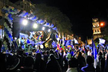 MAS cierra campaña electoral en Sucre
