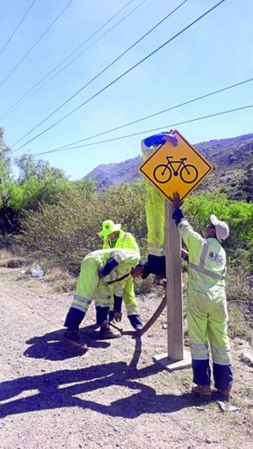 Instalan señalética para proteger a los ciclistas