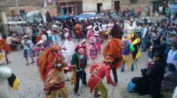 Mira cómo celebraban esta tarde a la Virgen de Guadalupe en El Abra