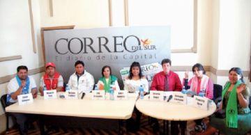 Agua para Sucre, bandera de los candidatos a diputados de la C-2