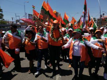 El candidato Carlos Mesa cierra su campaña electoral en Sucre