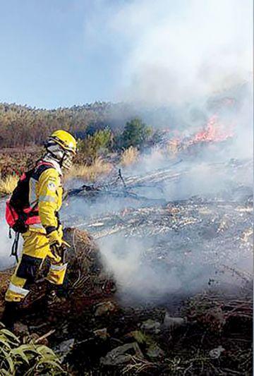 Se reactivaron diez focos  de fuego en la Chiquitanía