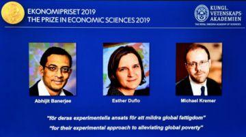Nobel de Economía de 2019 para Banerjee, Duflo y Kremer