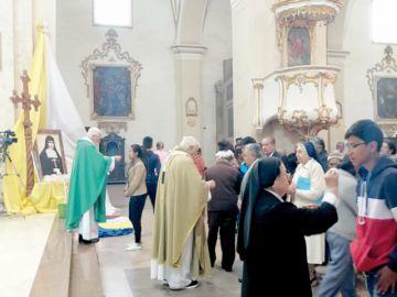 Recuerdan canonización de santa madre Nazaria