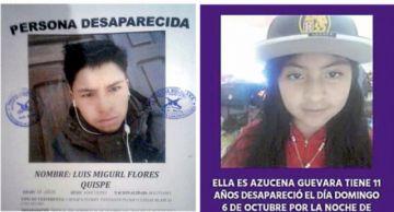 Azucena y Luis Miguel continúan desaparecidos