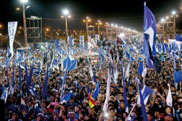Santa Cruz: El MAS cierra su campaña con tensión