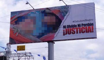 Defensoría condena gigantografías de Octubre Negro y pide sanciones