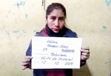 """Aprehenden a una mujer """"juku"""" en Oruro"""