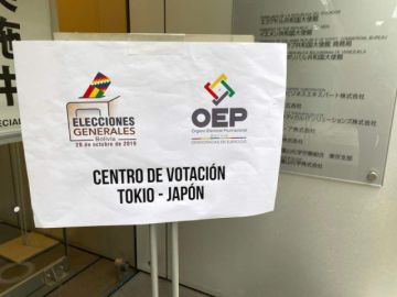 Solo 78 de 249 habilitados votaron en la única mesa de Japón