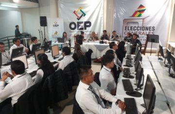 Vea el cómputo de los votos en Chuquisaca