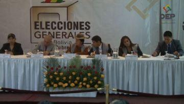 El TSE instala sala plena e inicia conteo de votos
