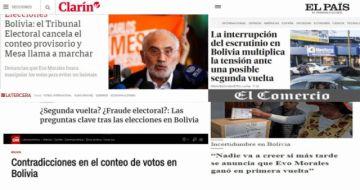 Prensa internacional refleja dudas por paralización del conteo rápido