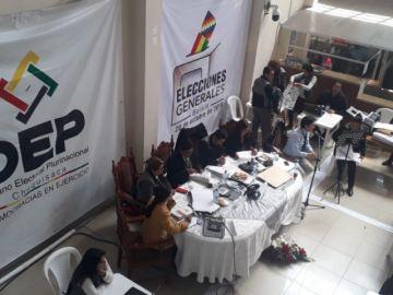 Cómputo oficial para presidente alcanza el 17% en el TED Chuquisaca
