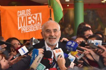 Carlos Mesa denuncia que se trata de manipular resultado electoral en Bolivia