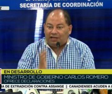 Romero rechaza violencia y dice que se sancionará a los responsables