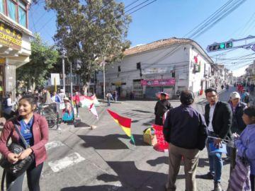 Sucre cumple parcialmente el paro cívico
