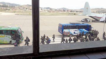 Chuquisaca: Policía se refuerza  con llegada de más uniformados