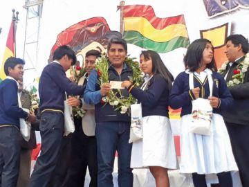 Inauguran pago de bono Juancito Pinto