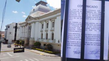 Órgano Judicial y TCP llevan tres días sin atención