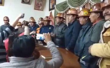 Cooperativas mineras de Potosí respaldan las reivindicaciones de su departamento