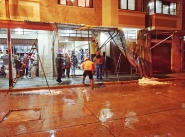 Atienden emergencias por lluvia y granizada