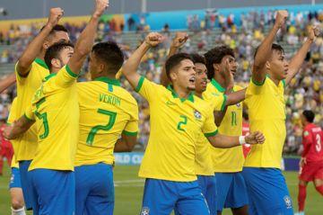 Mundial Sub 17: Brasil golea  a Canadá en su debut copero