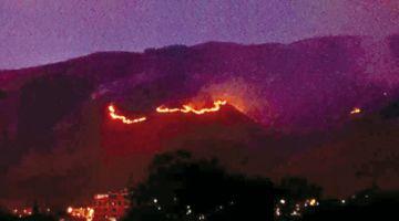 Reportan nuevo incendio en el Parque Tunari