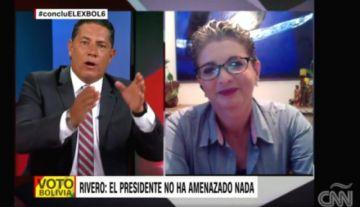 Diputada Rivero no justifica a CNN el cerco anunciado por el presidente Evo Morales