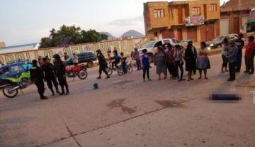 Niña muere atropellada por un camión en Sucre