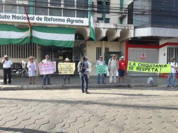 Ejecutan toma pacífica del INRA en Santa Cruz