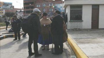 Identifican a funcionarios públicos en cerco al aeropuerto de El Alto