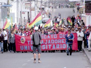 Chuquisaqueños asistirán a movilización en La Paz
