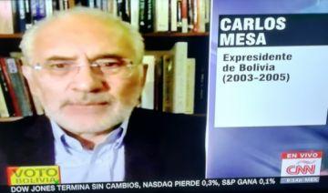 Mesa insiste que salida a crisis está en manos de Evo Morales