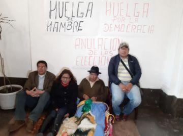 Quispe pide que Evo se vaya y nuevas elecciones con huelga de hambre