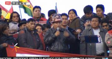 Cabildo en El Alto respalda al Gobierno