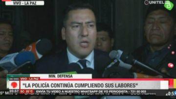 Ministro de Defensa: Ningún militar saldrá a las calles del país