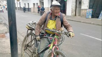 Don Isidoro, pasión por la bicicleta